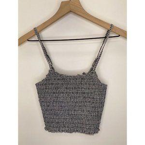 Brandy Melville Sleeveless Crop Tops Gray Size One